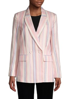 Rebecca Minkoff Striped Linen & Cotton-Blend Blazer