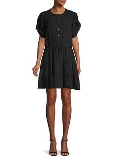 Rebecca Minkoff Tie-Front Mini Dress