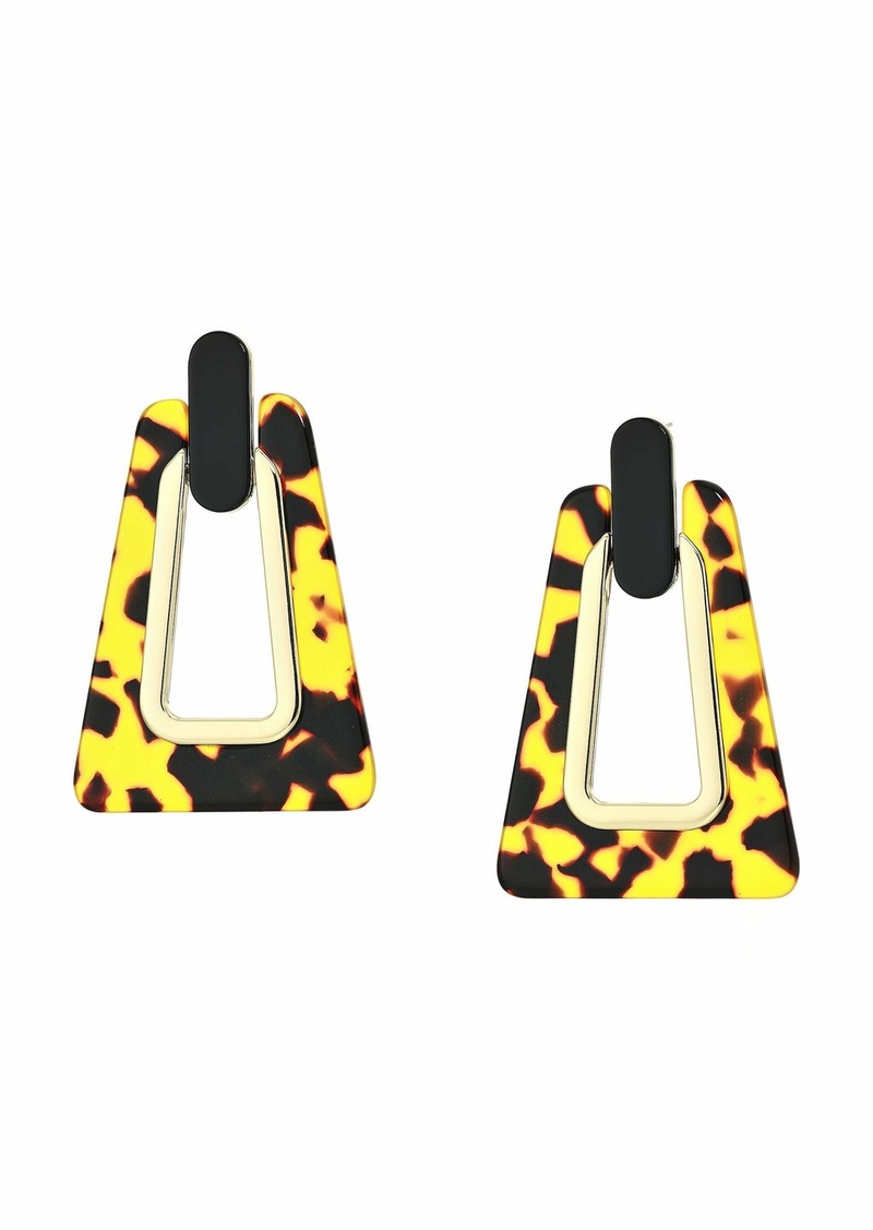 Trapezoid Resin Statement Earrings