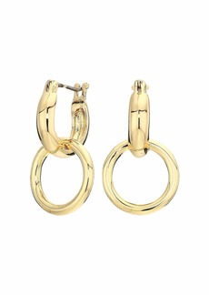 Rebecca Minkoff Tubular Double Link Huggies Earrings
