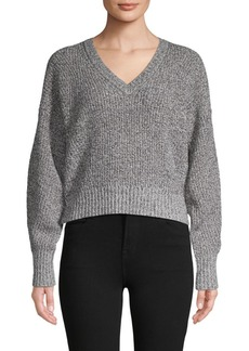 Rebecca Minkoff V-Neck Cotton-Blend Sweater