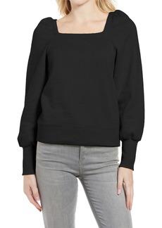 Women's Rebecca Minkoff Ariel Square Neck Puff Sleeve Sweatshirt