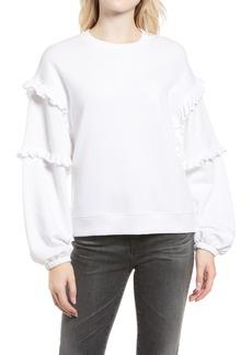 Women's Rebecca Minkoff Evelyn Frill Balloon Sleeve Cotton Sweatshirt