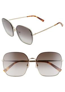 Women's Rebecca Minkoff Gloria3 60mm Square Sunglasses - Cream/ Brown/ Gold