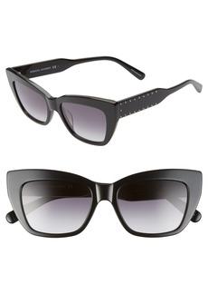 Women's Rebecca Minkoff Imogen1 53mm Cat Eye Sunglasses - Black/ Dkgray Gradient