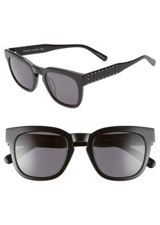 Women's Rebecca Minkoff Imogen2 49mm Studded Sunglasses - Black/ Grey Blue