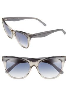 Women's Rebecca Minkoff Lark 54mm Gradient Cat Eye Sunglasses - Blue/ Dark Blue Grad