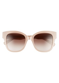 Women's Rebecca Minkoff Martina 52mm Cat Eye Sunglasses - Plum Pink/ Brown