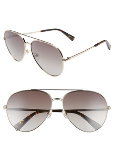 Women's Rebecca Minkoff Stevie 63mm Oversize Gradient Aviator Sunglasses - Light Gold/ Brown
