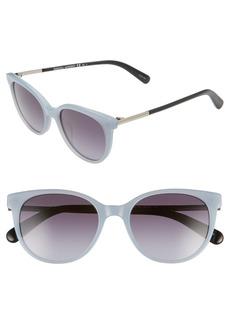Rebecca Minkoff Women's Rebeccca Minkoff Indio 52mm Gradient Cat Eye Sunglasses - Blue/ Dark Grey