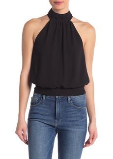 Rebecca Minkoff Zuki Solid Sheer Tie Back Top