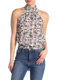 Rebecca Minkoff Zuki Paisley Sheer Tie Back Top