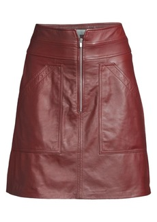 Rebecca Taylor A-Line Leather Skirt