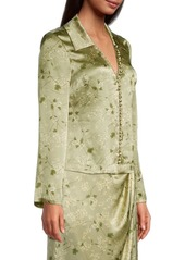 Rebecca Taylor Adela Fleur Silk Blouse