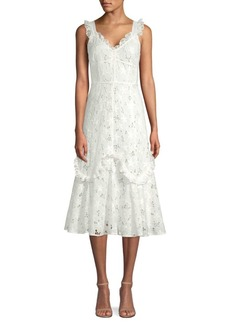 Rebecca Taylor Adriana Eyelet Cotton Dress