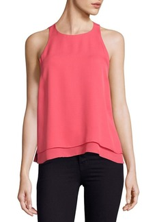 Rebecca Taylor Aerin Silk Georgette Layered Top