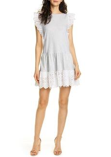 Rebecca Taylor Agatha Eyelet Detail Cotton Jersey Dress