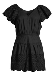 Rebecca Taylor Agatha Lace Eyelet Romper