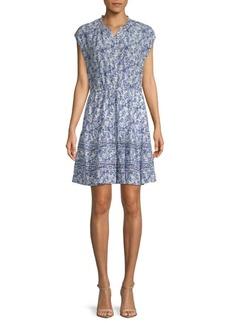 Rebecca Taylor Aimee Floral Silk Shirtdress