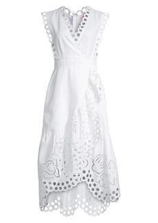 Rebecca Taylor Ariana Eyelet Wrap Dress