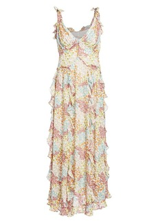 Rebecca Taylor Ava Floral Ruffle Tank Dress