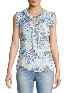 Rebecca Taylor Ava Floral Ruffle Top
