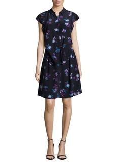 Rebecca Taylor Bell Flower Silk Dress
