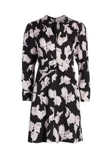 Rebecca Taylor Blossom Long-Sleeve Silk-Blend Dress