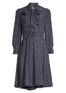 Rebecca Taylor Blurry Heart Silk Dress