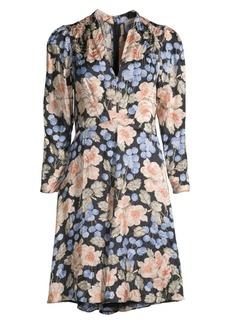 Rebecca Taylor Blush Rose Floral Dress