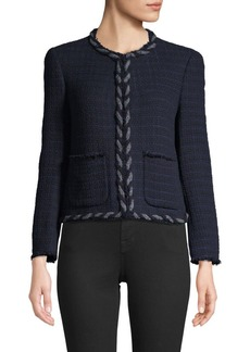 Rebecca Taylor Braid-Trim Cotton-Blend Jacket