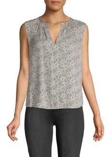 Rebecca Taylor Briar Printed Sleeveless Silk Top