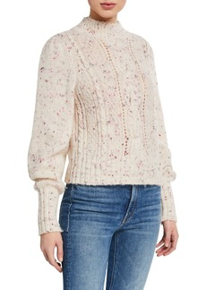 Rebecca Taylor Cable-Knit Pullover Sweater