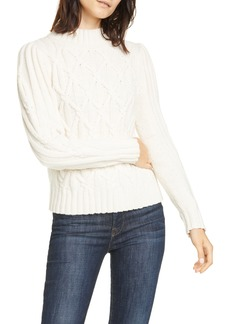 Rebecca Taylor Cable Turtleneck Pullover