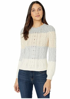 Rebecca Taylor Cabled Stripe Pullover