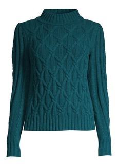 Rebecca Taylor Cableknit Turtleneck