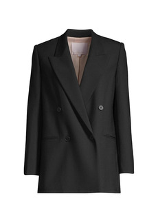 Rebecca Taylor Cavalry Twill Double-Breasted Jacket