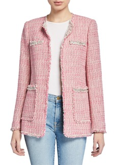 Rebecca Taylor Collarless Tweed Jacket