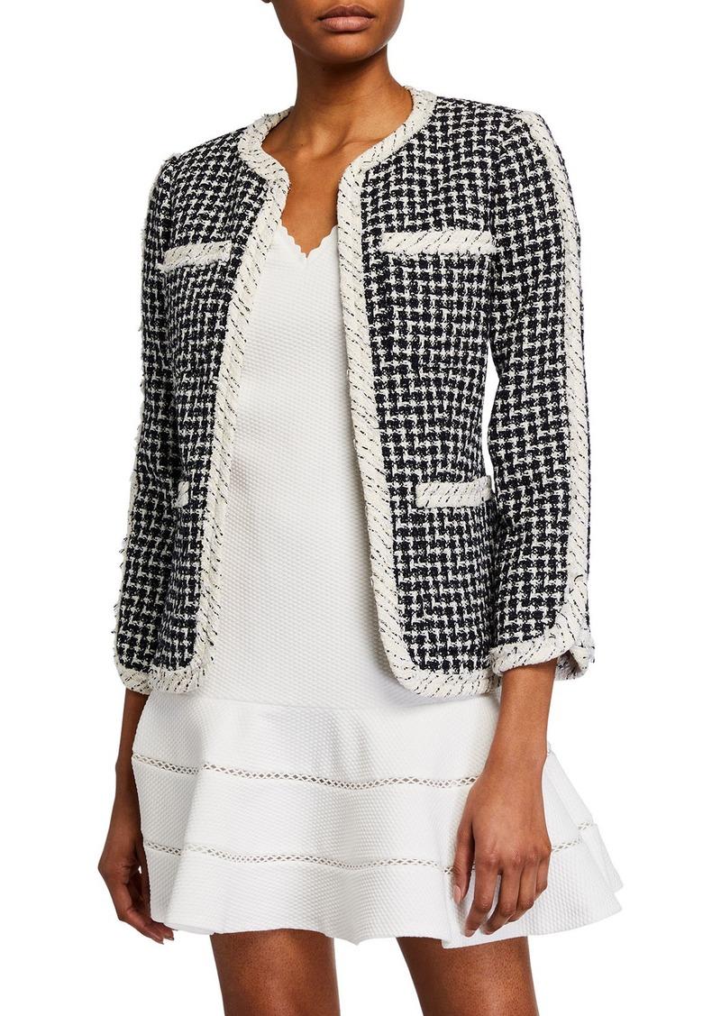 Rebecca Taylor Collarless Tweed Jacket