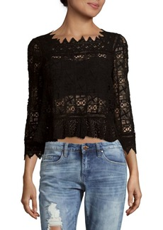 Rebecca Taylor Crochet Cotton Top