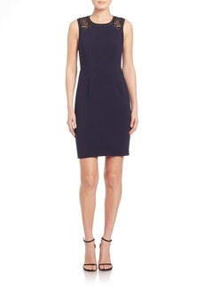 Rebecca Taylor Crochet Inset Sheath Dress