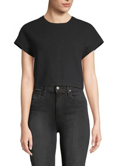 Rebecca Taylor Cropped Lace Back T-Shirt
