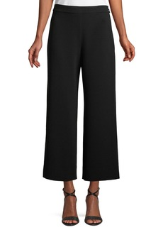 Rebecca Taylor Cropped Wide-Leg Crepe Pants