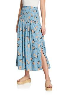 Rebecca Taylor Daniella Floral Jacquard Skirt