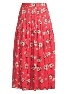 Rebecca Taylor Daniella Floral Midi Skirt