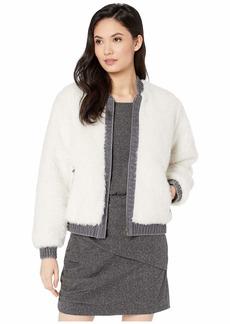 Rebecca Taylor Denim & Faux Fur Jacket