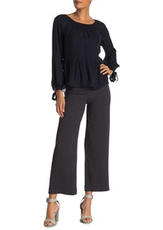 Rebecca Taylor Dot Wide Leg Ankle Pants