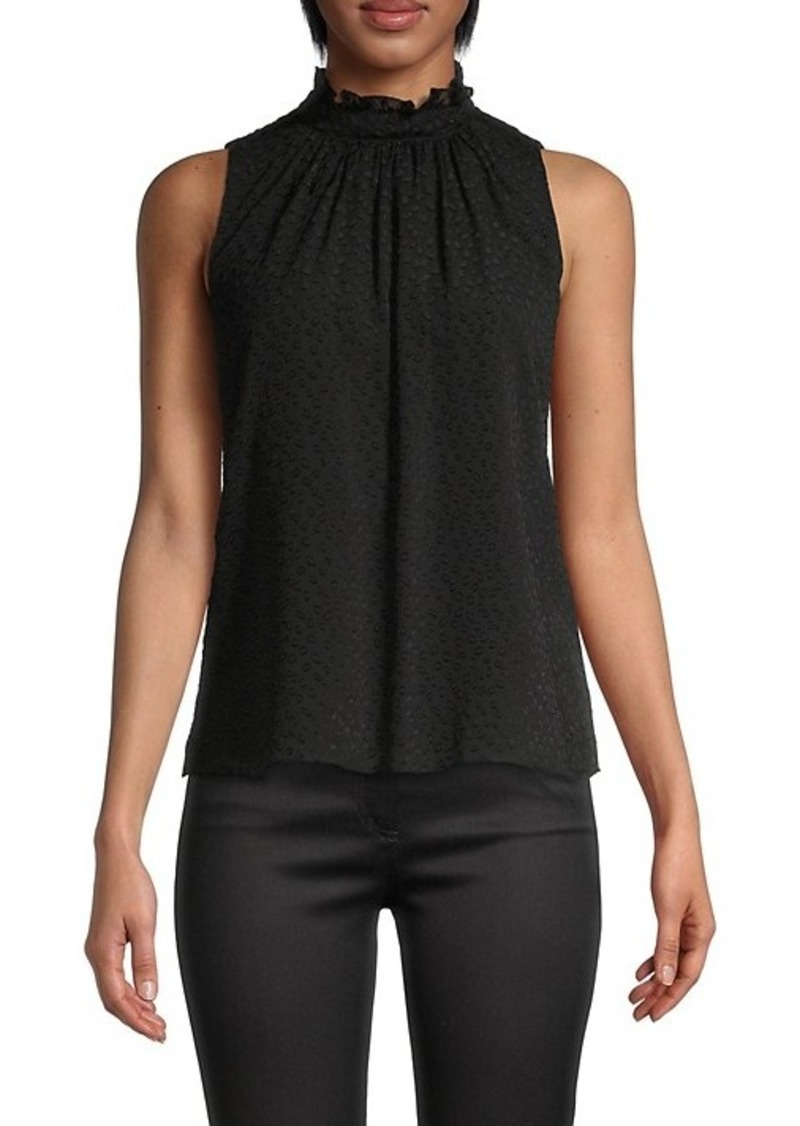 Rebecca Taylor Dotted Silk-Blend Top
