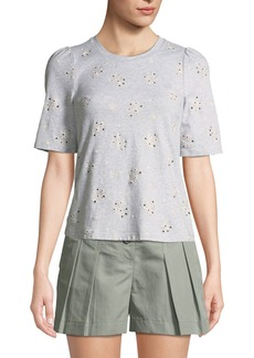 Rebecca Taylor Dree Eyelet Jersey Tee