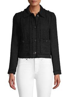 Rebecca Taylor Embellished Textured Jacket